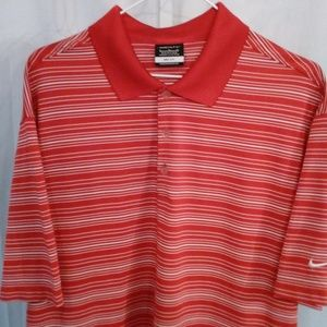 Nike Rosey Red Athletic Style Sport Shirt (XL)